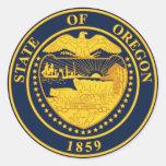 Oregon Round Sticker