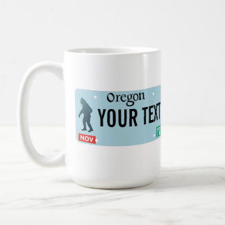 Oregon Sasquatch License Plate Coffee Mug