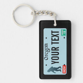 Oregon Sasquatch License Plate Key Ring
