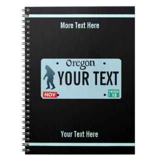 Oregon Sasquatch License Plate Notebooks