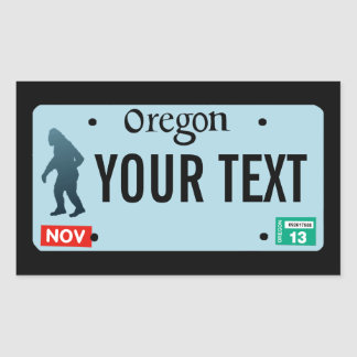 Oregon Sasquatch License Plate Rectangular Sticker
