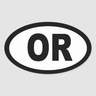 Oregon - sheet of 4 oval car stickers