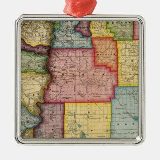Oregon Silver-Colored Square Decoration
