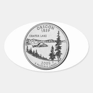 Oregon State Quarter Oval Sticker