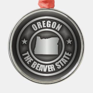 Oregon Steel Silver-Colored Round Decoration