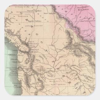 Oregon Territory Square Sticker
