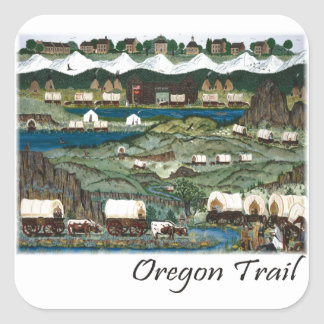 Oregon Trail Square Sticker
