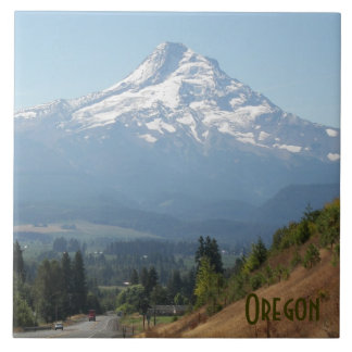 Oregon Travel Photo Large Square Tile