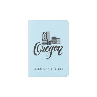 Oregon Typography Design Passport Holder