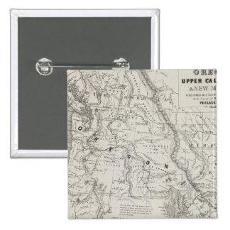 Oregon, Upper California and New Mexico 2 15 Cm Square Badge