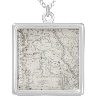 Oregon, Upper California and New Mexico 2 Silver Plated Necklace