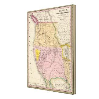 Oregon, Upper California and New Mexico Canvas Print