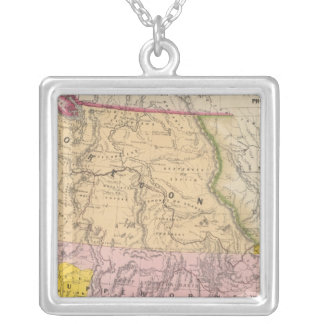 Oregon, Upper California and New Mexico Silver Plated Necklace