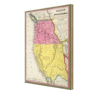 Oregon & Upper California Canvas Print