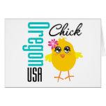 Oregon USA Chick Greeting Card