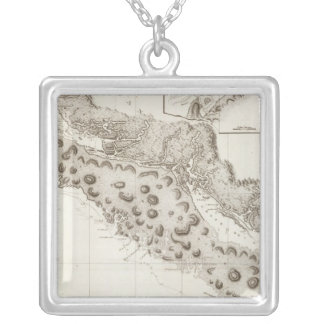 Oregon Washington British Columbia Silver Plated Necklace