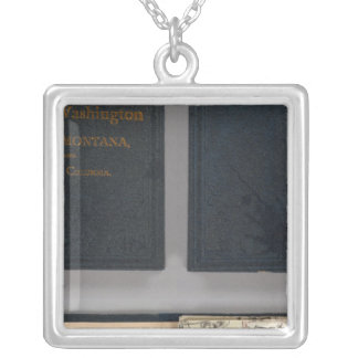 Oregon, Washington, Idaho, Montana Silver Plated Necklace