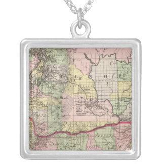 Oregon, Washington Silver Plated Necklace