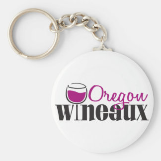 Oregon Wine Girl Basic Round Button Key Ring