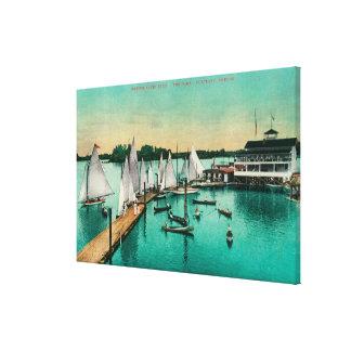 Oregon Yacht Club Stretched Canvas Prints