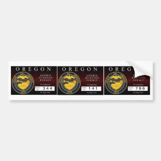 Oregon Zombie Hunting Permit V.2 Bumper Sticker