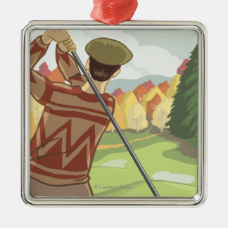 OregonGolf Scene Vintage Travel Poster Christmas Ornament
