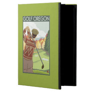 OregonGolf Scene Vintage Travel Poster iPad Air Covers