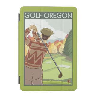 OregonGolf Scene Vintage Travel Poster iPad Mini Cover