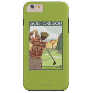 OregonGolf Scene Vintage Travel Poster Tough iPhone 6 Plus Case
