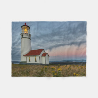 Oregon's oldest lighthouse at Cape Blanco State Fleece Blanket