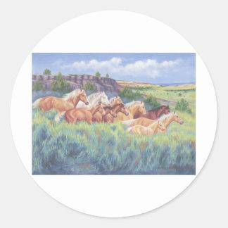 Oregon's Wild Horses Classic Round Sticker