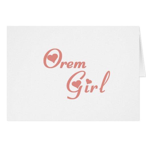 Orem Girl tee shirts Card