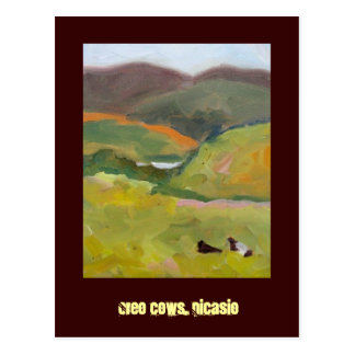 Oreo cows Nicasio Postcard