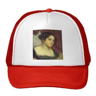 Orest Kiprensky- Portrait of Anna Furman Mesh Hat