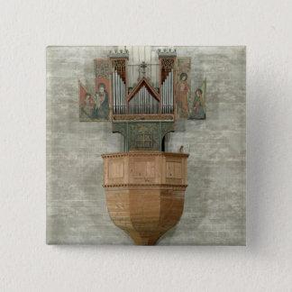 Organ, 1390 15 cm square badge