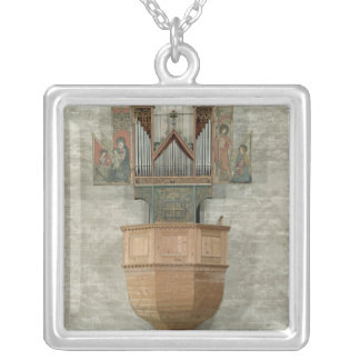 Organ, 1390 silver plated necklace