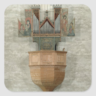 Organ, 1390 square sticker