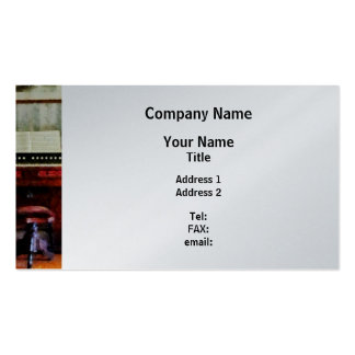 Organ and Swivel Stool - Platinum Finish Pack Of Standard Business Cards