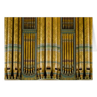 Organ Birmingham Town Hall UK greeting card