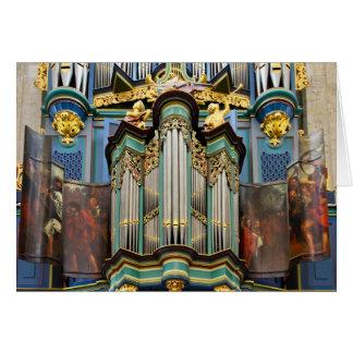 Organ Breda Netherlands greeting card