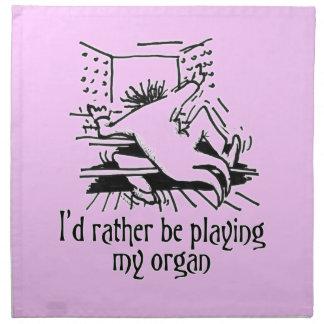 Organ cartoon napkins - lilac