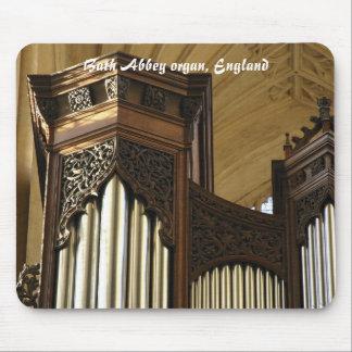 Organ case tower, Bath Abbey, England Mouse Pad