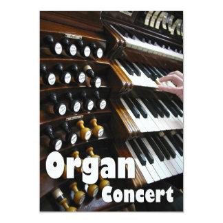 Organ concert invitation - keyboards