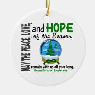 Organ Donation Christmas 3 Snow Globe Ornaments