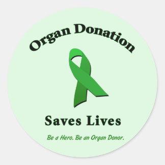 Organ Donation Saves Classic Round Sticker