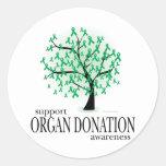 Organ Donation Tree Classic Round Sticker