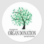 Organ Donation Tree Round Sticker