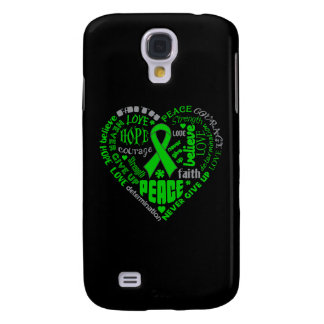 Organ Donor Awareness Heart Words Samsung Galaxy S4 Case
