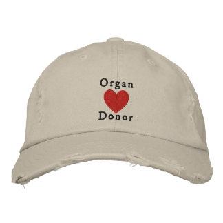 Organ Donor Embroidered Baseball Cap