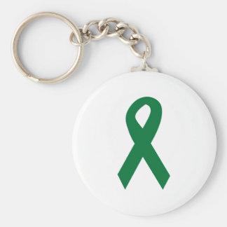 Organ Donor Ribbon Basic Round Button Key Ring